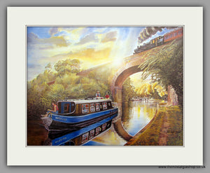 Canal Cruise, Mounted Print (ref N93)