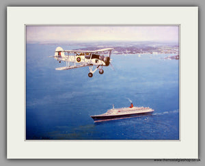 Swordfish Over The QE2 Mounted Print (ref N82)