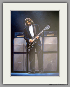 Eric Clapton 'Rock Guitar' Large Mounted Art print (ref N110)