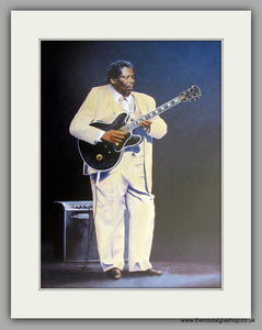 B B King Blues Guitar Large Mounted Art print (ref N111)