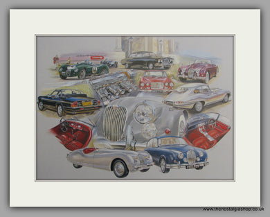 Jaguar. Grace, Space and Pace, Mounted Large print