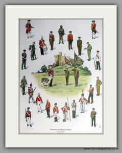 Royal Regiment of Wales  1689 - 1989. Mounted print