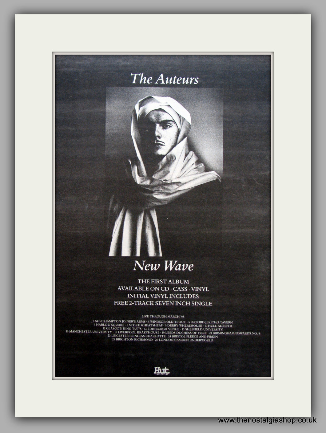 Auteurs (The)-New Wave.  Original Vintage Advert 1993 (ref AD10584)