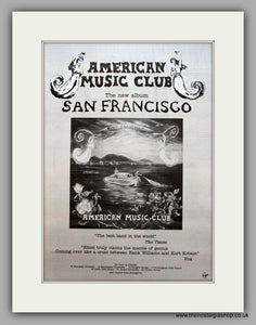 American Music Club-San Francisco.  Original Vintage Advert 1994 (ref AD10587)