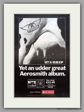 Aerosmith-Get A Grip.  Original Vintage Advert 1993 (ref AD10590)
