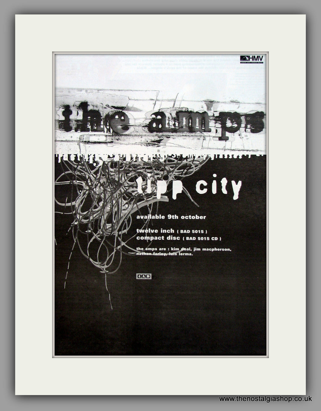 Amps (The)-Tipp City.  Original Vintage Advert 1995 (ref AD10591)