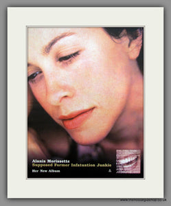 Alanis Morissette-Supposed Former Infatuation Junkie.  Original Vintage Advert 1994 (ref AD10595)