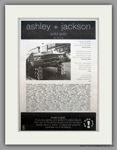 Ashley & Jackson-Solid Gold.  Original Vintage Advert 1992 (ref AD10597)