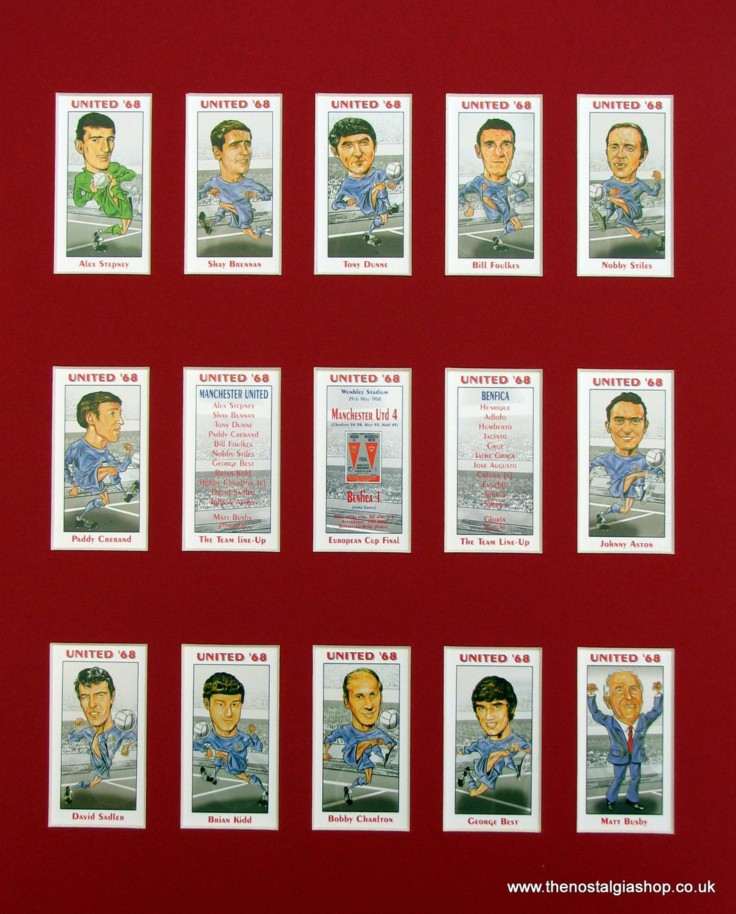 Manchester United 1968, European Cup Winners. Football Card Set