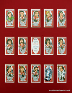Sunderland. FA Cup Winners 1973. Mounted Football Card Set
