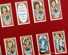 Load image into Gallery viewer, Sunderland. FA Cup Winners 1973. Mounted Football Card Set