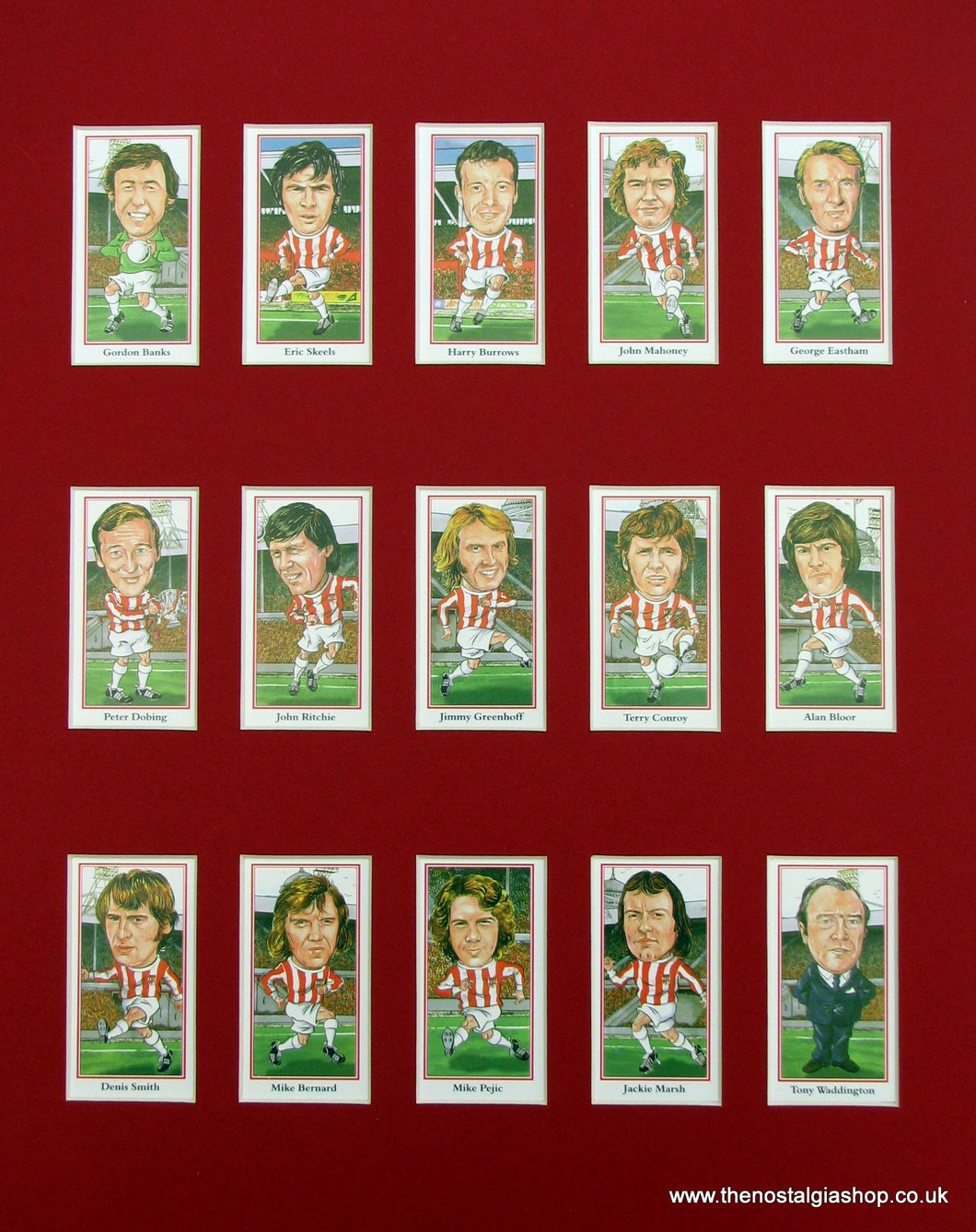 Stoke Heroes of the 1970's. Football Card Set
