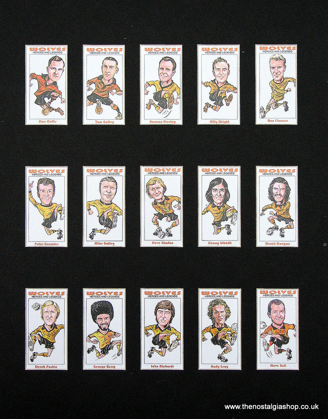 Wolves Heroes & Legends. Mounted Football Card Set