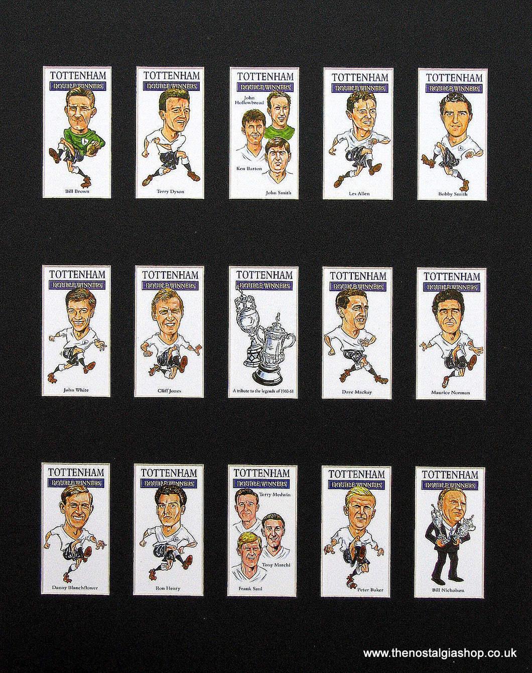 Tottenham Hotspur. Spurs Double Winners 1961. Football Card Set.