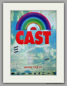 Cast - Winter Tour.  Original Vintage Advert 1997 (ref AD10687)
