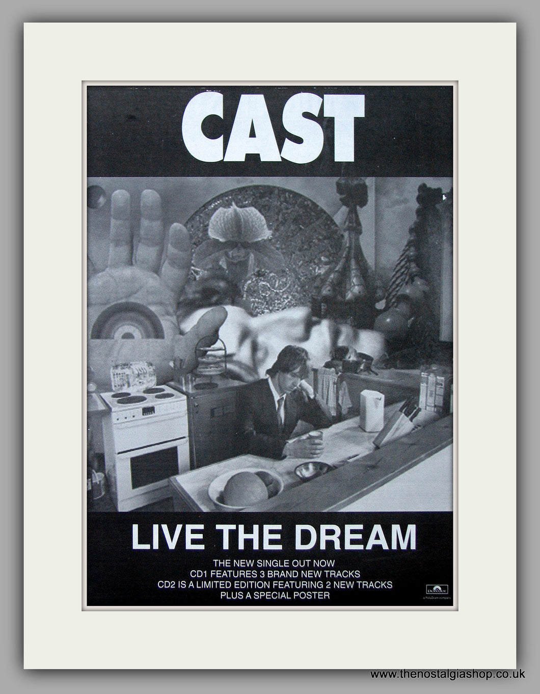 Cast - Live The Dream.  Original Vintage Advert 1997 (ref AD10691)