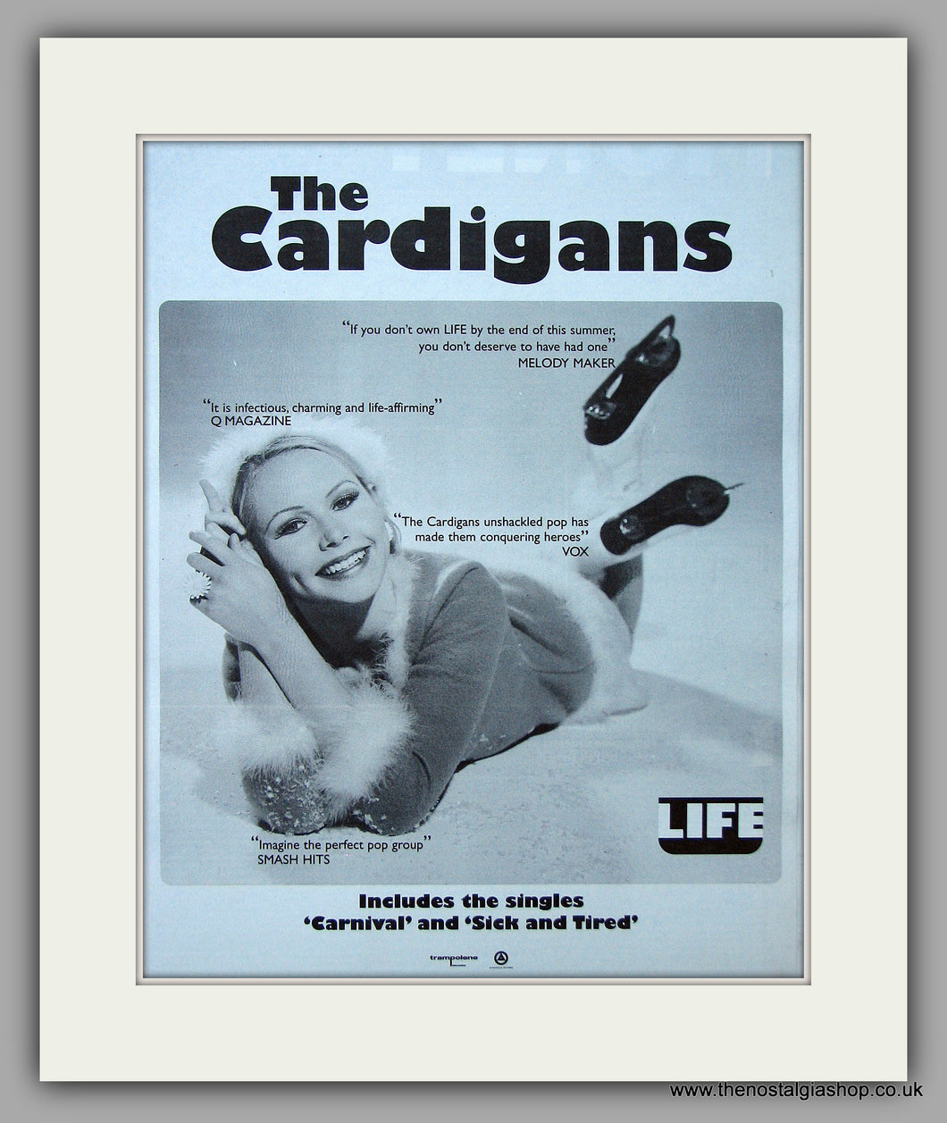 Cardigans (The) - Life.  Original Vintage Advert 1995 (ref AD10693)