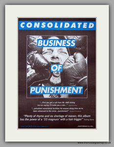 Consolidated - Business Of Punishment.  Original Vintage Advert 1994 (ref AD10700)