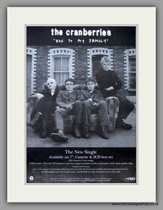 Cranberries (The) - Ode To My Family.  Original Vintage Advert 1994 (ref AD10704)