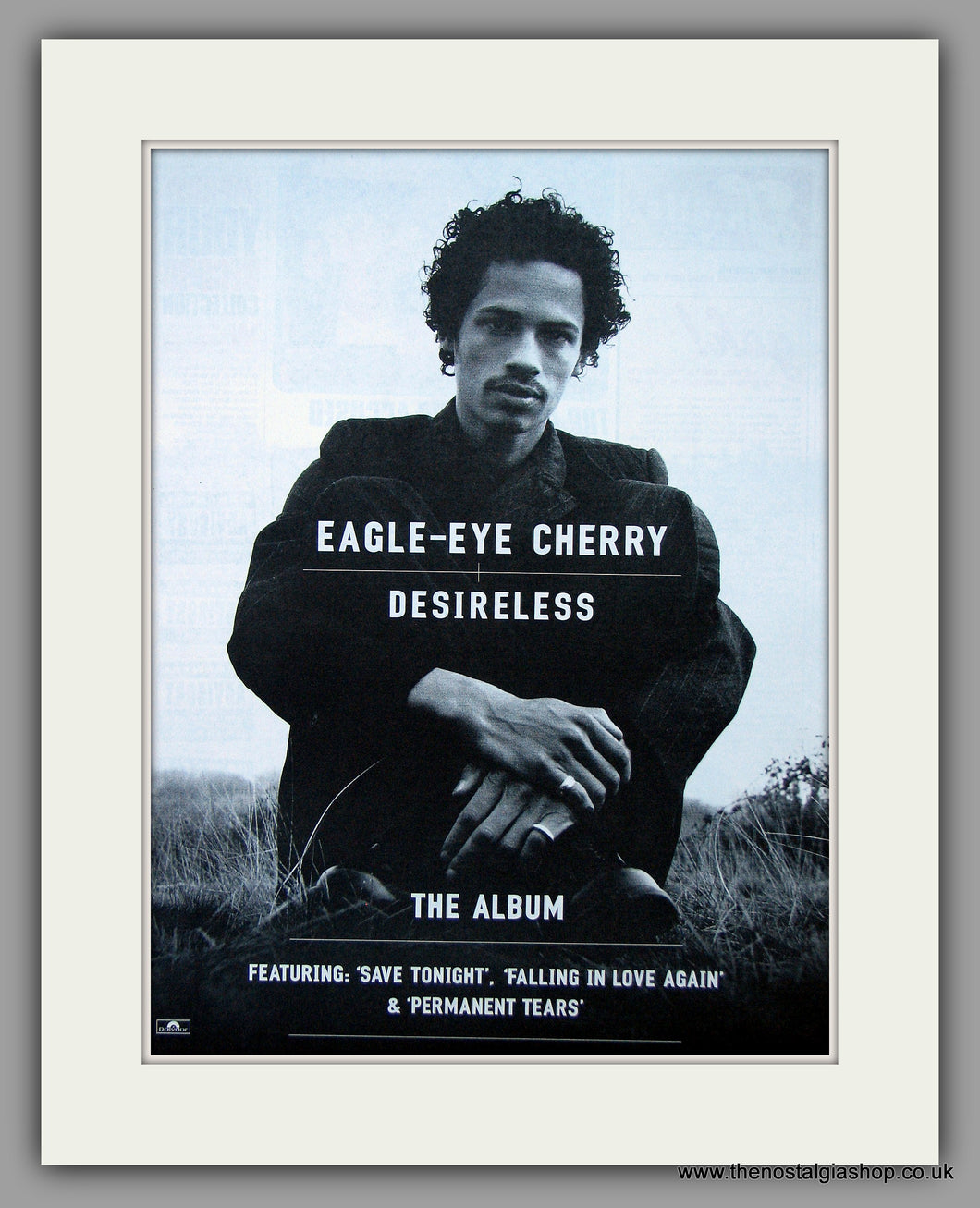 Eagle-Eye Cherry - Desireless.  Original Vintage Advert 1999 (ref AD10736)