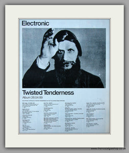 Electronic - Twisted Tenderness.  Original Vintage Advert 1999 (ref AD10747)