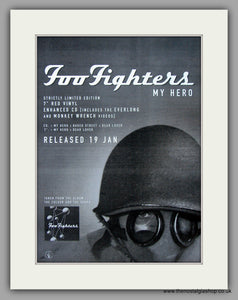 Foo Fighters - My Hero. Original Vintage Advert 1998 (ref AD10781)