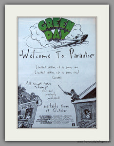 Green Day - Welcome To Paradise. Original Vintage Advert 1994 (ref AD10792)