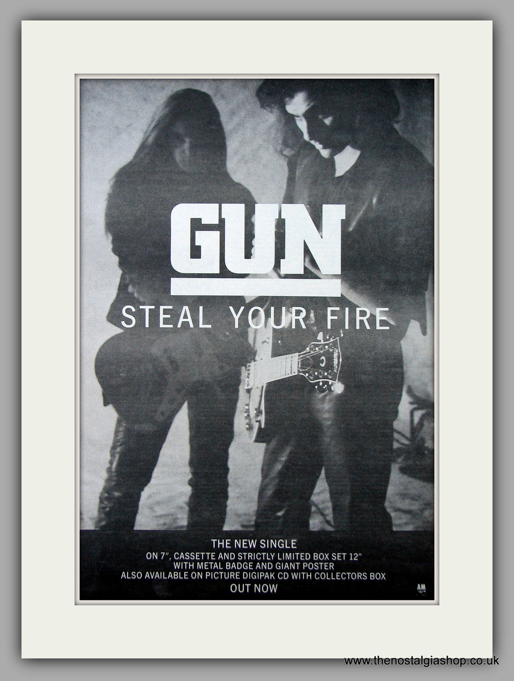 Gun - Steal Your Fire. Original Vintage Advert 1992 (ref AD10806)