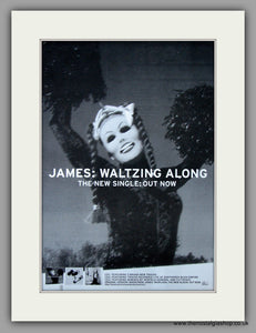 James - Waltzing Along. Original Vintage Advert 1997 (ref AD10832)