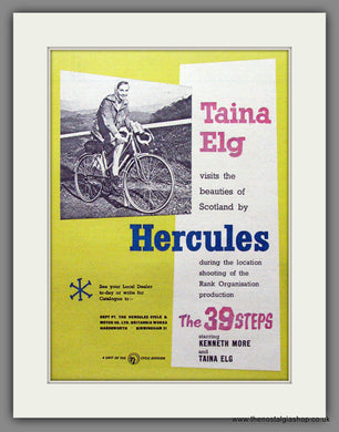 Hercules Bicycles with Actress Taina Elg Original Advert 1959 (ref AD55302)