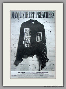 Manic Street Preachers - You Love Us. Original Vintage Advert 1992 (ref AD10916)