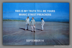 Manic Street Preachers - This Is My Truth Tell Me Yours. Large Original Vintage Advert 1998 (ref AD10921)