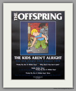 Offspring (The) - The Kids Aren't Alright. Original Vintage Advert 1999 (ref AD10938)