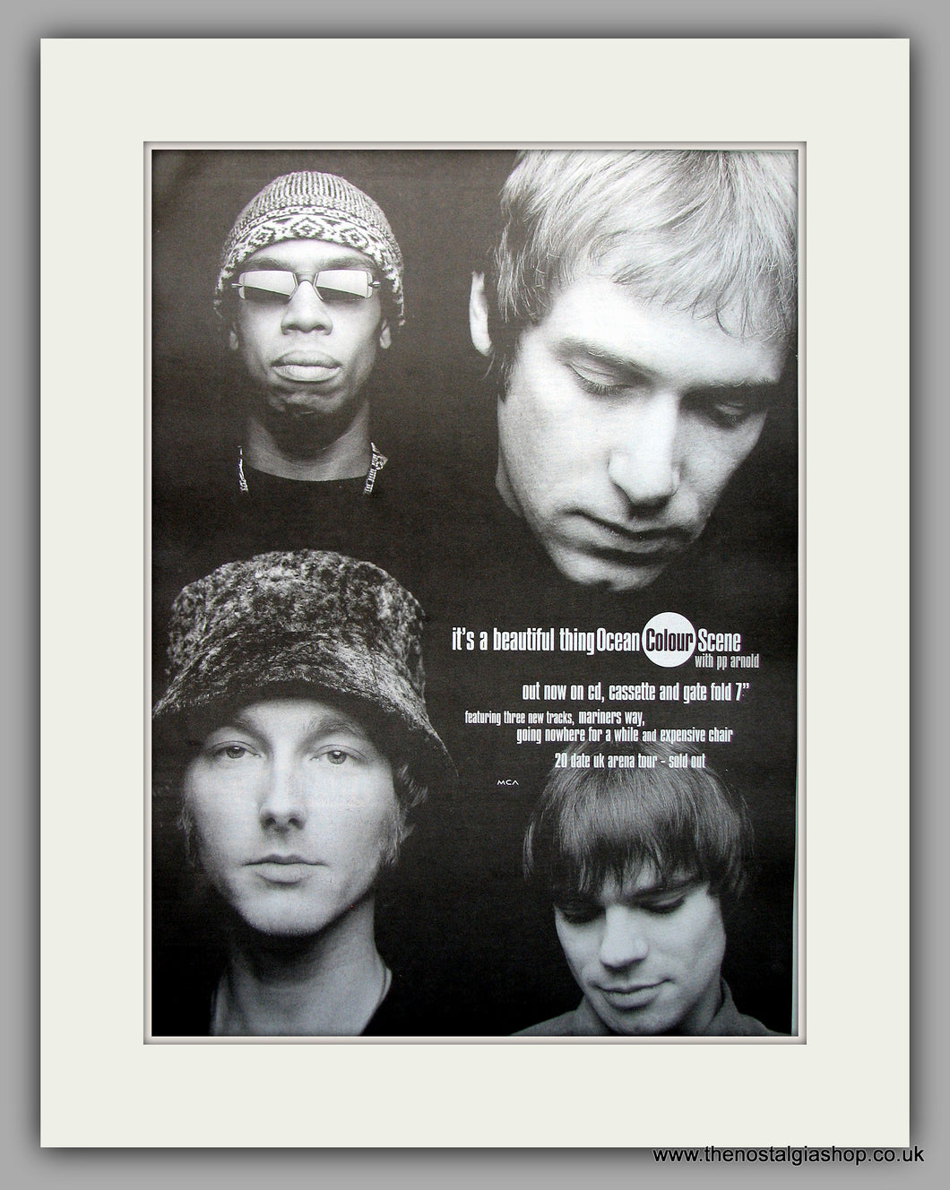 Ocean Colour Scene - It's A Beautiful Thing. Original Vintage Advert 1998 (ref AD10951)