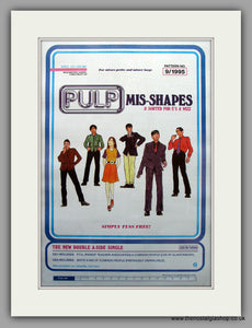 Pulp - Mis-Shapes. Original Vintage Advert 1995 (ref AD10964)