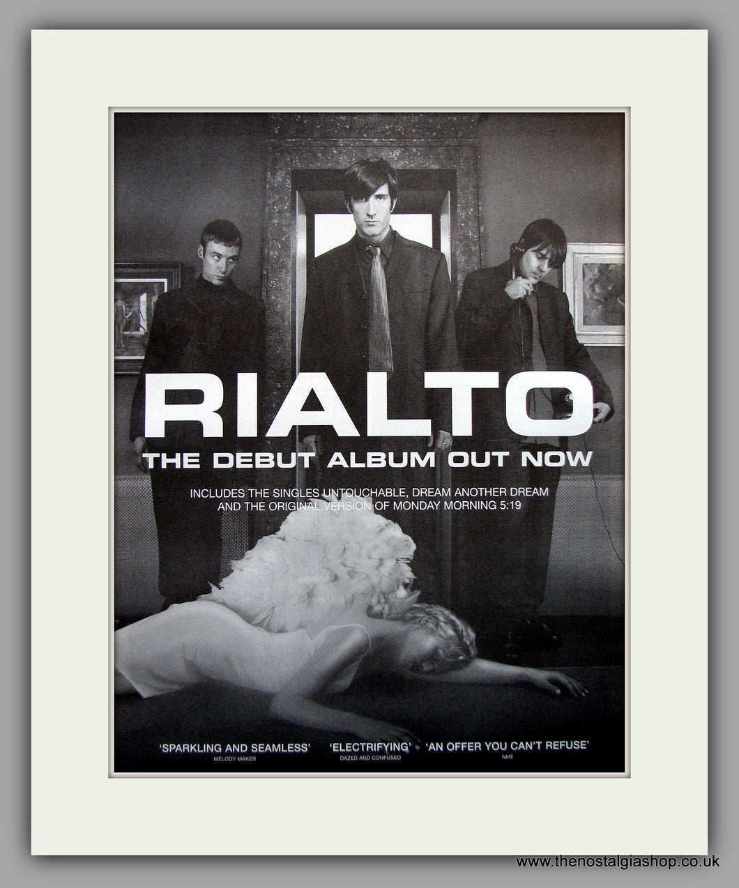 Rialto - Debut Album. Original Vintage Advert 1998 (ref AD11006)
