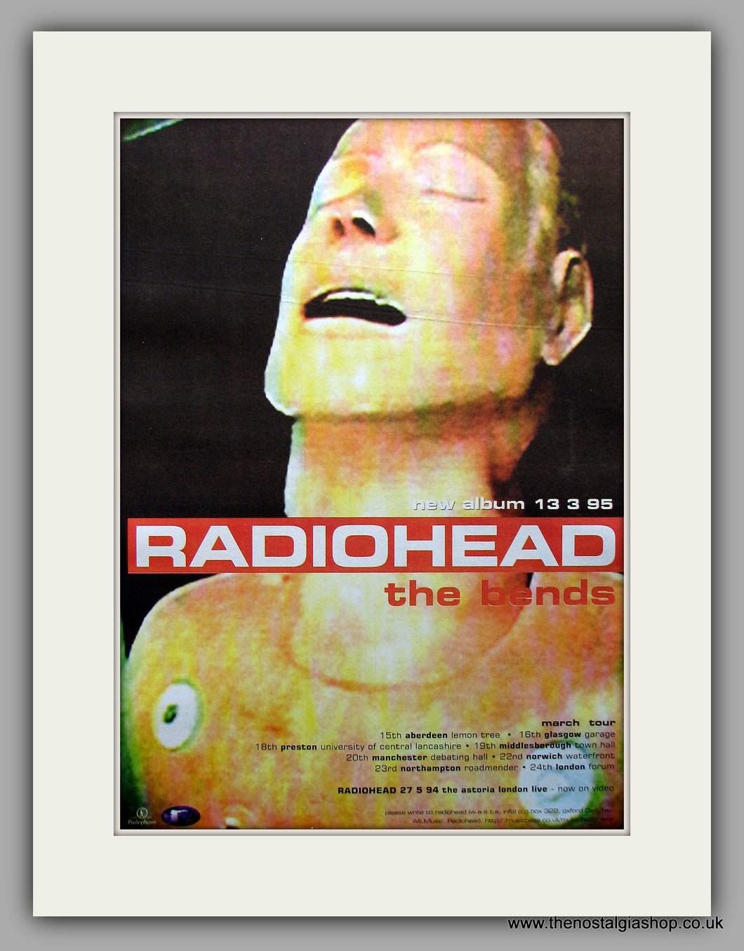 Radiohead. The Bends. Original Vintage Advert 1995 (ref AD11028)