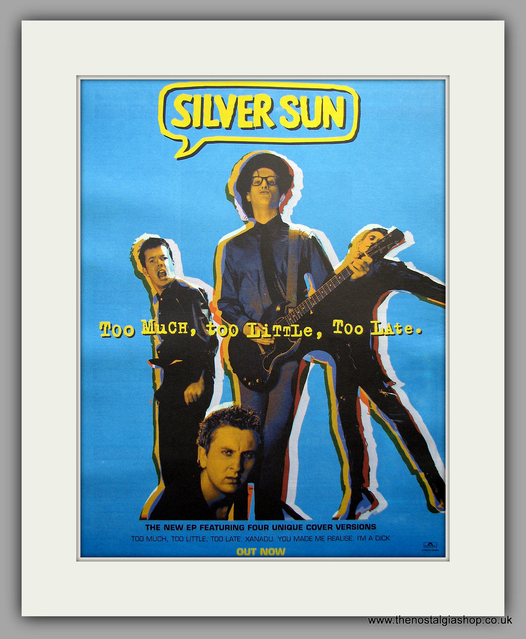 Silver Sun. Too Much, Too Little, Too Late. Original Vintage Advert 1998 (ref AD11049)