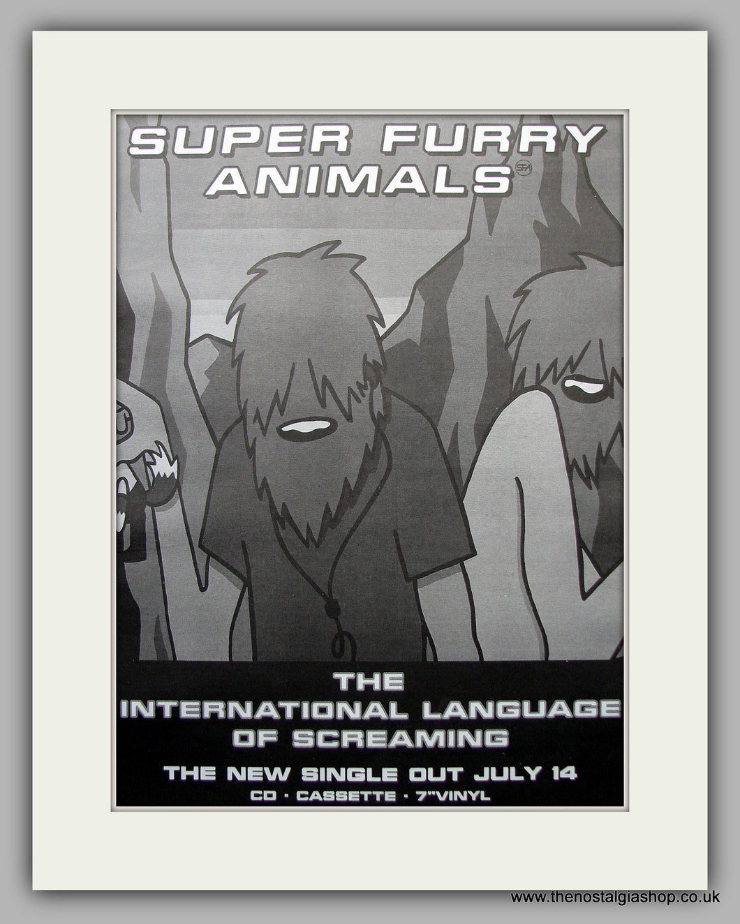 Super Furry Animals. Language of Screaming. Original Vintage Advert 1997 (ref AD11078)