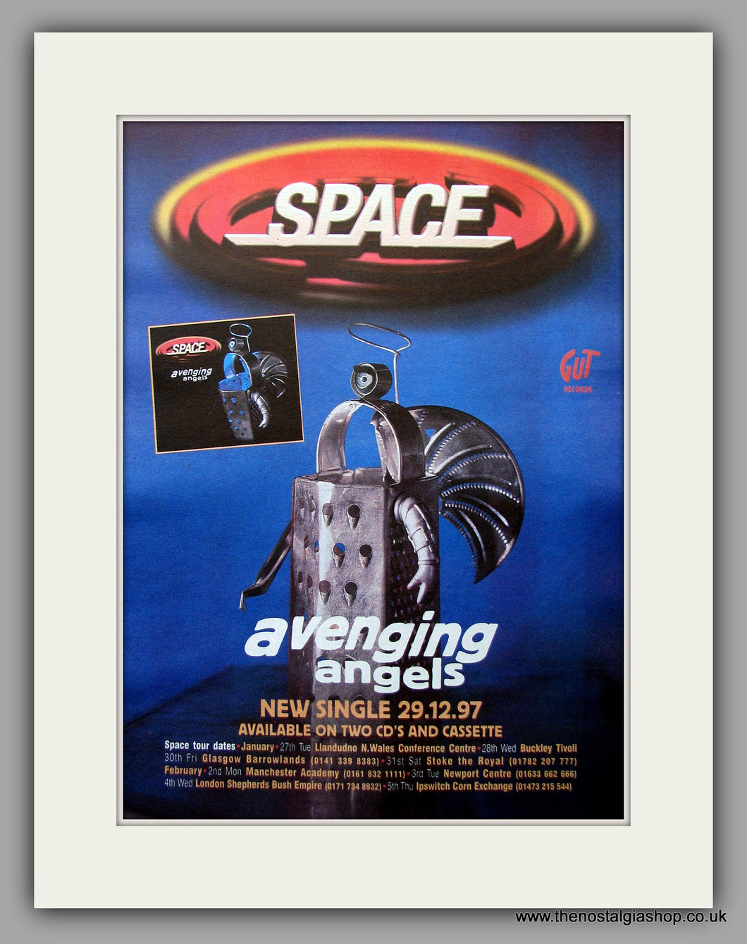 Space - Avenging Angels. Original Vintage Advert 1997 (ref AD11088)