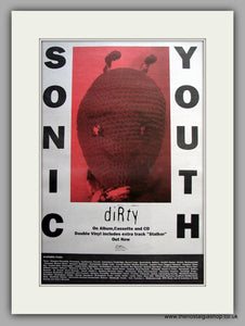 Sonic Youth - Dirty. Original Vintage Advert 1992 (ref AD11107)