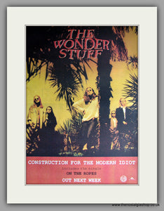 Wonder Stuff (The) - Construction For The Modern Idiot. Original Vintage Advert 1993  (ref AD11174)