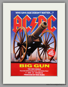 AC DC Big Gun. 1993 Original Advert (ref AD7950)