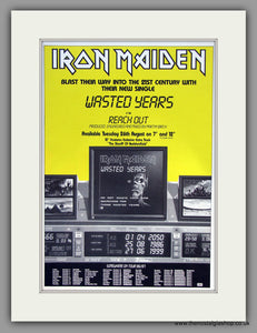 Iron Maiden. Wasted Years. 1986 Original Advert (ref AD7953)