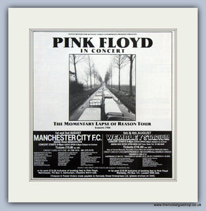 Pink Floyd. Momentary Lapse of Reason Tour 1988. Original Advert (ref AD7969)