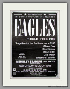 Eagles. World Tour 1996 at Wembley. Original Vintage Advert (ref AD11142)