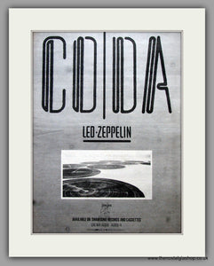 Led Zeppelin. CODA. Original Vintage Advert  (ref AD11147)