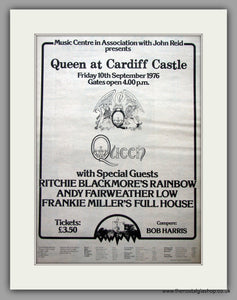 Queen at Cardiff Castle. Original Vintage Advert 1976  (ref AD11150)