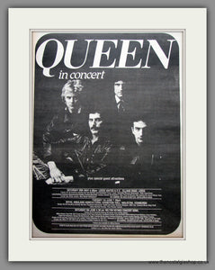Queen Tour 1982. Original Vintage Advert  (ref AD11151)