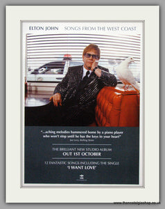 Elton John. Songs From The West Coast. Original Advert 2001 (ref AD50194)